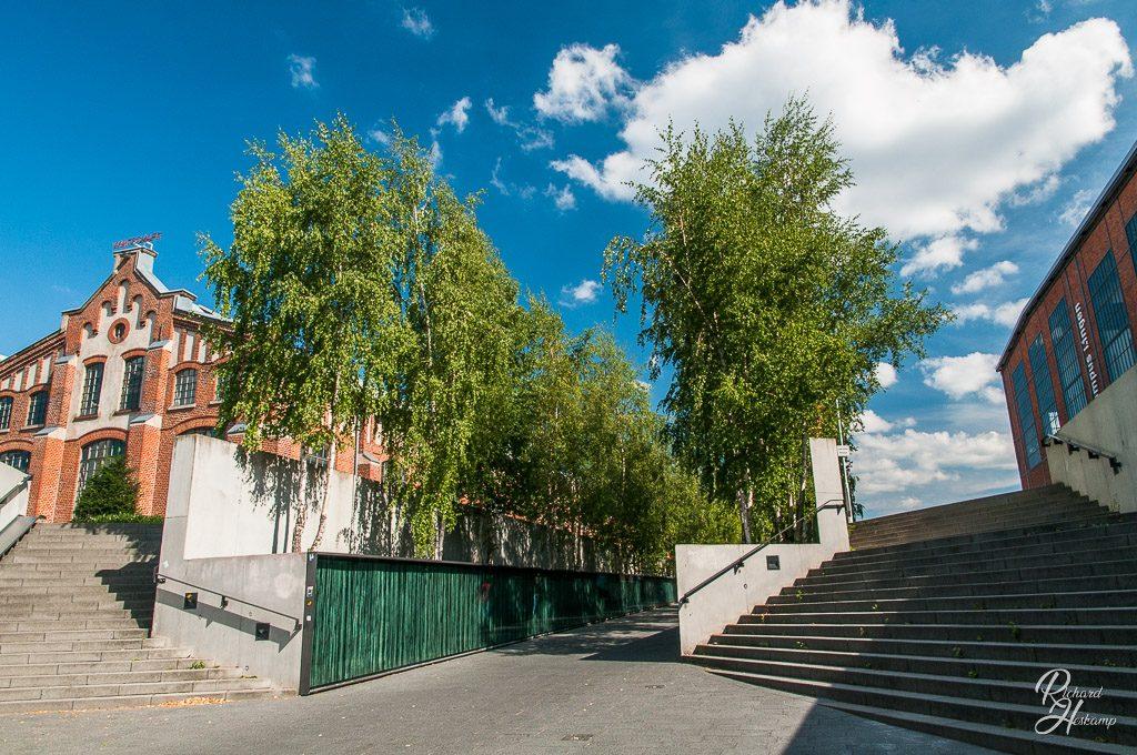 Treppenaufgang Bahnunterfuehrung,Halle IV,Fachhochschule